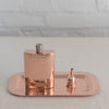 copper flask - hammered metal flask - graduation gift - Sertado copper flask - copper flask made in Mexico