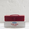 toyo tool box - t-320 - japanese steel - tool box - red - silver - black