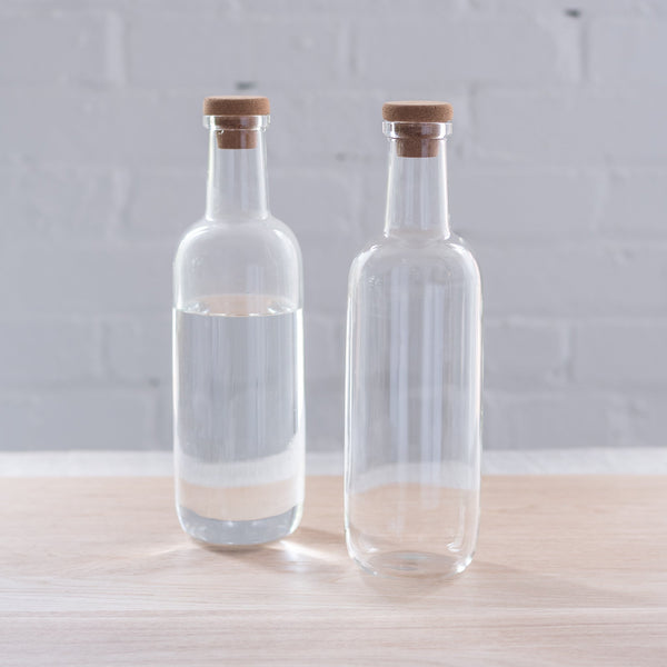 hay bottle - glass carafe - glass carafe with cork lid - hay -