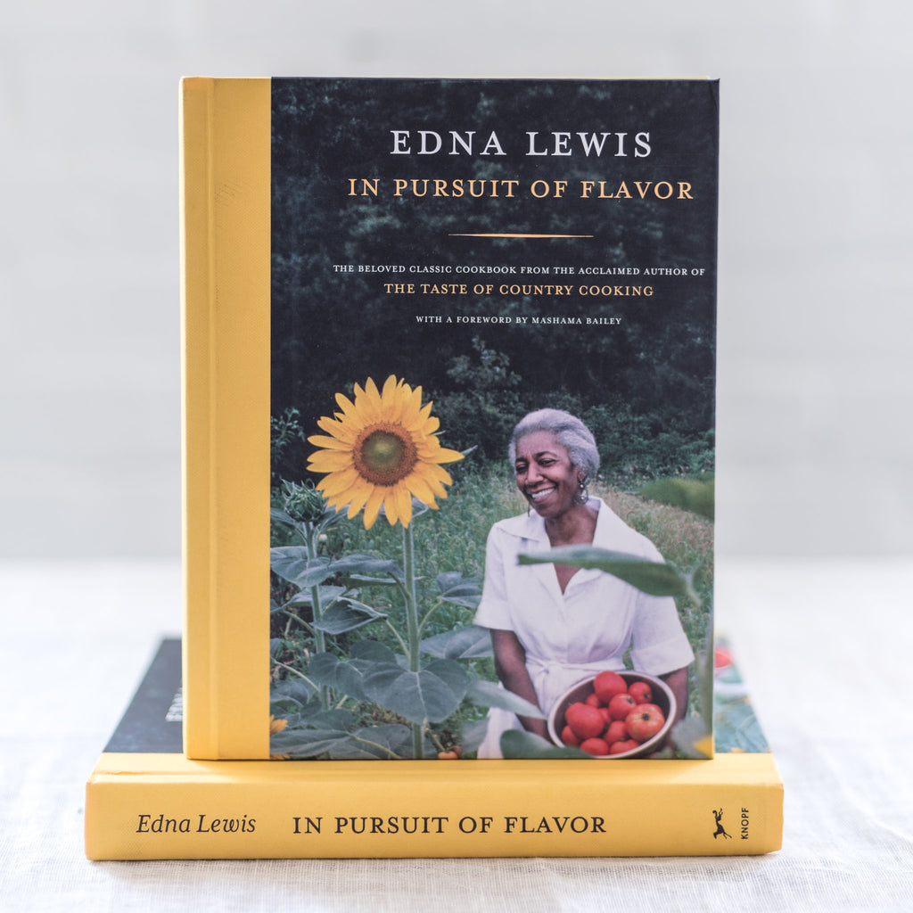 edna lewis - in pursuit of flavor - cook book - southern cooking