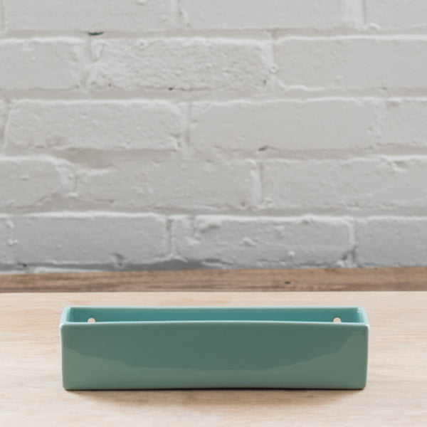 chive planter - plant wall brick - wall brick - wall planter - cobalt - seafoam - gray
