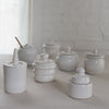white ceramic jam jar - fd pottery