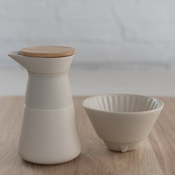 stelton theo coffee pour over - ceramic pour over - pour over - stoneware pour over - ceramic pour over