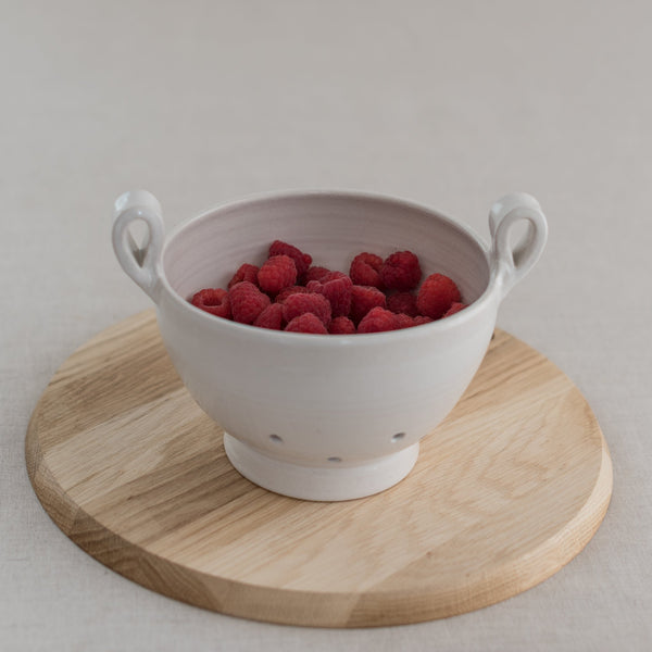 colander - berry bowl - fd pottery - made in the usa - fd pottery - ceramic colander