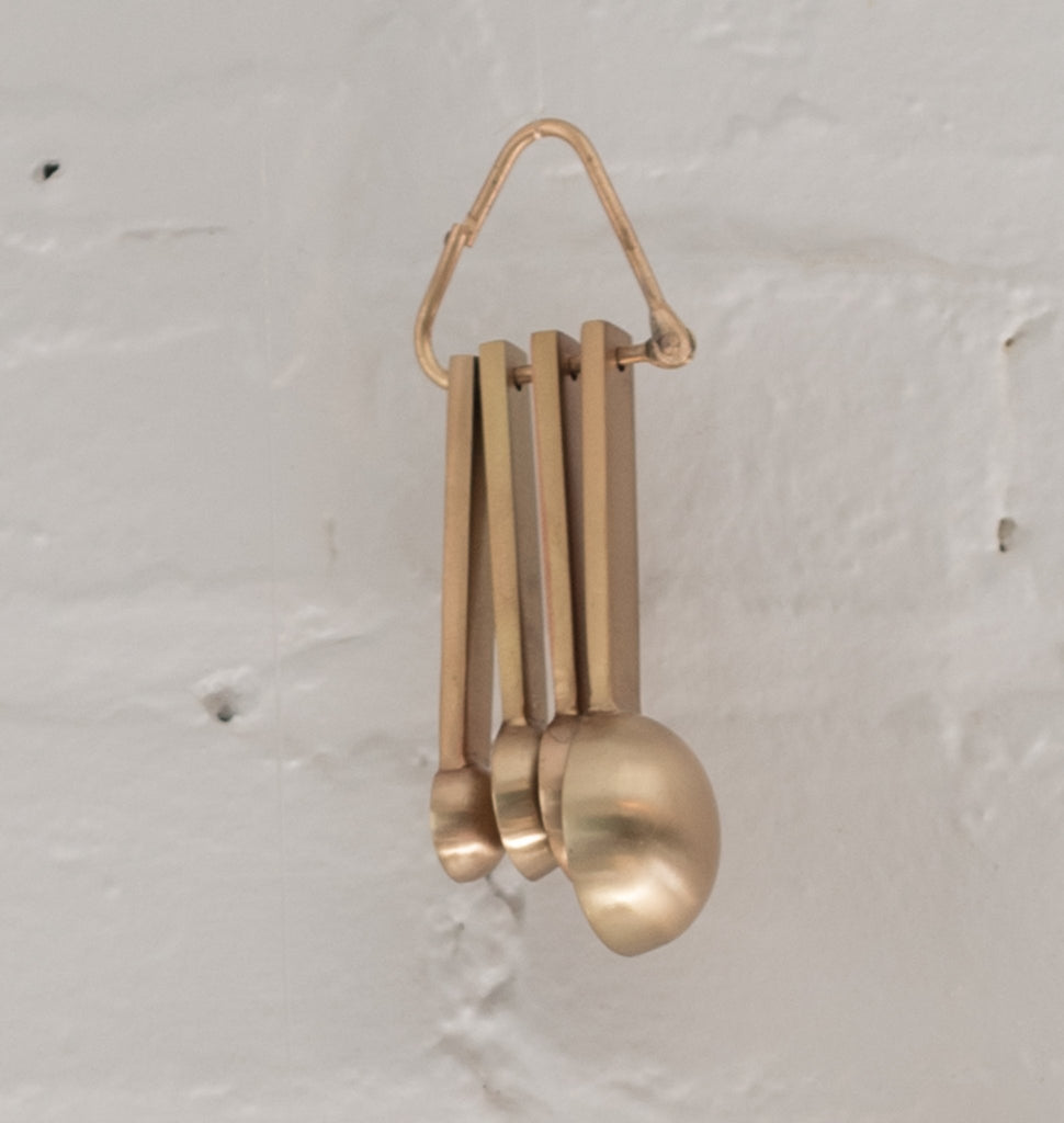 measuring spoons - gold measuring spoons - be home measuring spoons - be home -