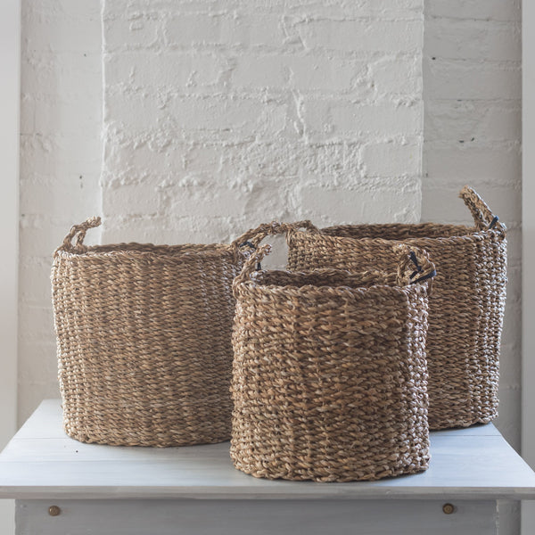 hacienda basket - accent decor - basket - woven basket