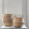 woven sea grass basket - accent decor - sea grass basket