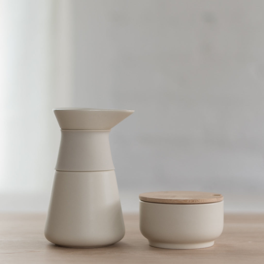 ceramic creamer and sugar set - theo creamer - theo sugar set - theo sugar bowl - stelton - stelton design