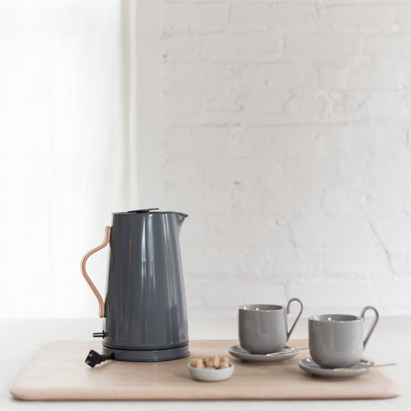 emma electric kettle - stelton electric kettle - gray electric kettle - blomus
