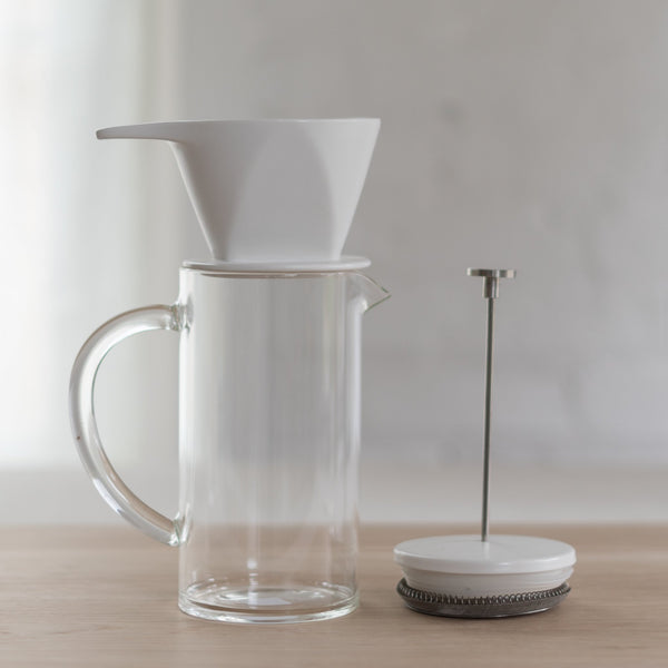 W&p pour press - pour over - french press- three piece set - w&p design