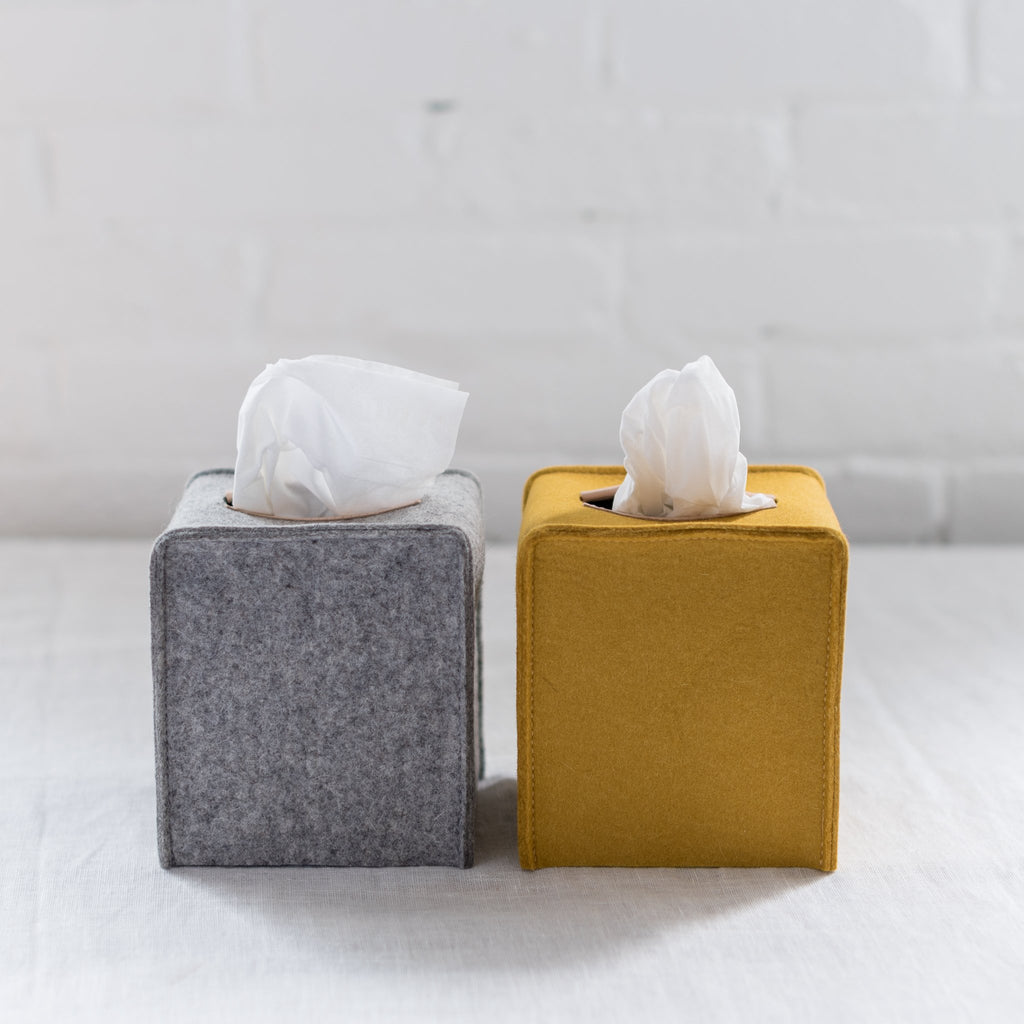 felt - merino wool - tissue box - tissue cover