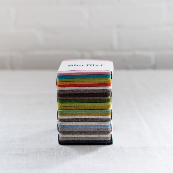 Bierfilzl Square - wool felt coasters -sturdy - durable