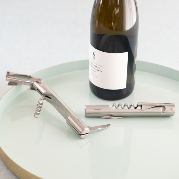 stainless steel-waiter knife-corkscrew-wine key-sommlier-waiter's tool-wine key-barware-bartending-wine knife-Blomus