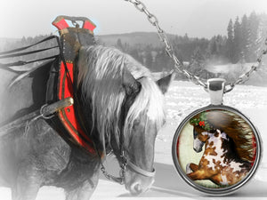 christmas horse necklace my western heart
