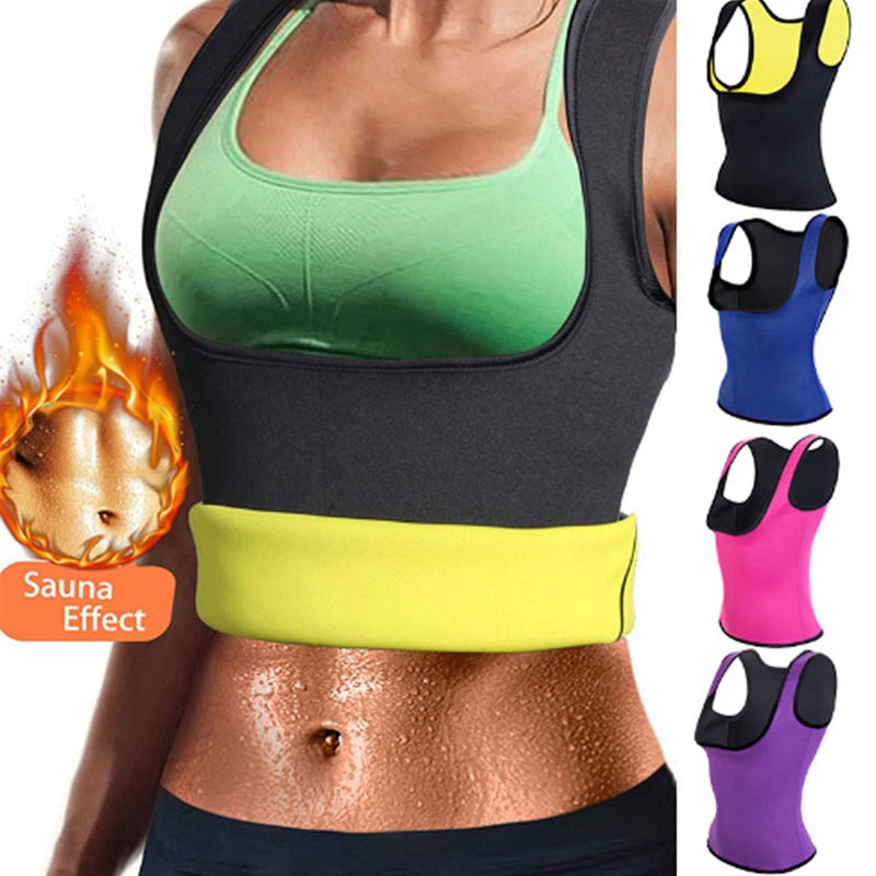 417c2afea96 Miss Moly Hot Shapers Sauna Sweat Neoprene Body Shaper Women Slimming  Thermo Push Up Vest Waist ...