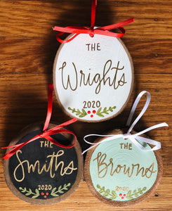 Custom Name Ornament