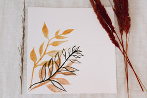 Watercolor Minimalistic Plant Painting II