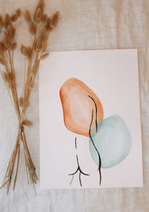 Watercolor Minimalistic Figure Painting II