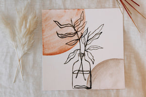 Watercolor Minimalistic Plant Painting