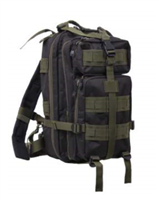 Medium Transport Backpack - Blk/OD Green