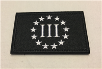 III% Patch Black/White