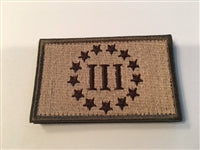 III% Patch Tan/OD Green