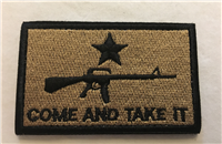 Come And Take It Patch Tan/Blk