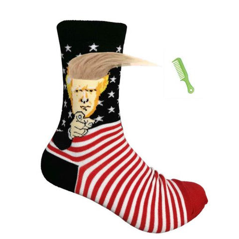 Trump Socks with Gold Hair/Comb