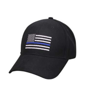 Thin Blue Line Low Profile Cap - Black