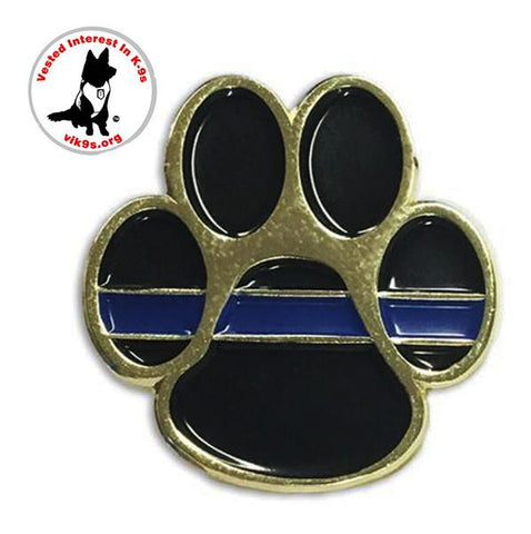 Thin Blue Line K-9 Paw Pin