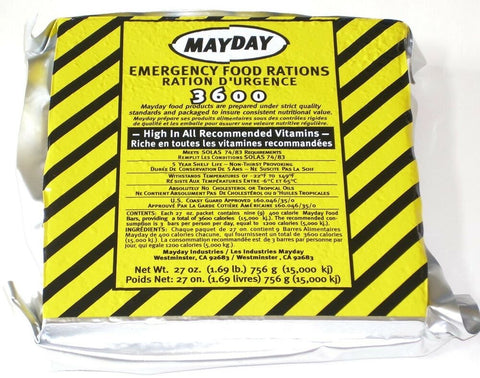 MayDay Emergency Ration  3600 cal.