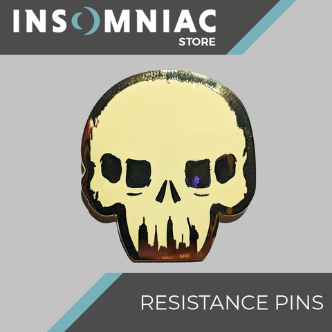 Resistance Skull Regular Brass Pin - Pre-Order