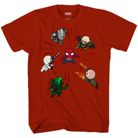 Marvel's Spider-Man Raft Battle Chibi Tee