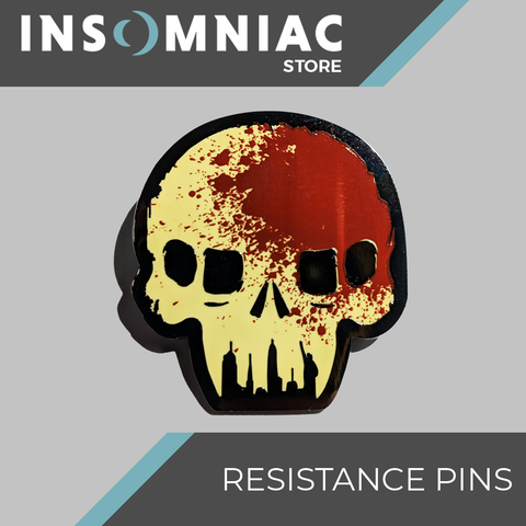 Resistance Skull Chimera Stained Pin - Pre-Order