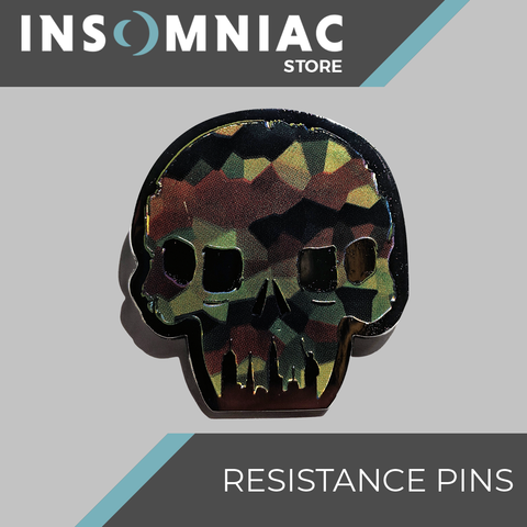 Resistance Skull Camo Pin - LIMITED EDITION