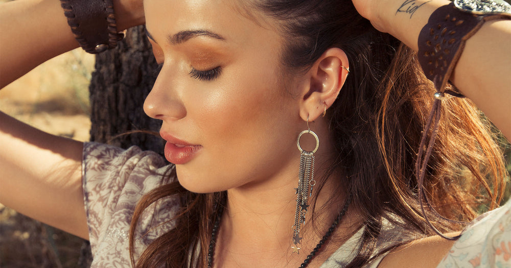 Women's western earrings