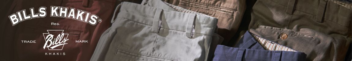 Bills Khakis Model M1P Pleated Relaxed Fit Pants