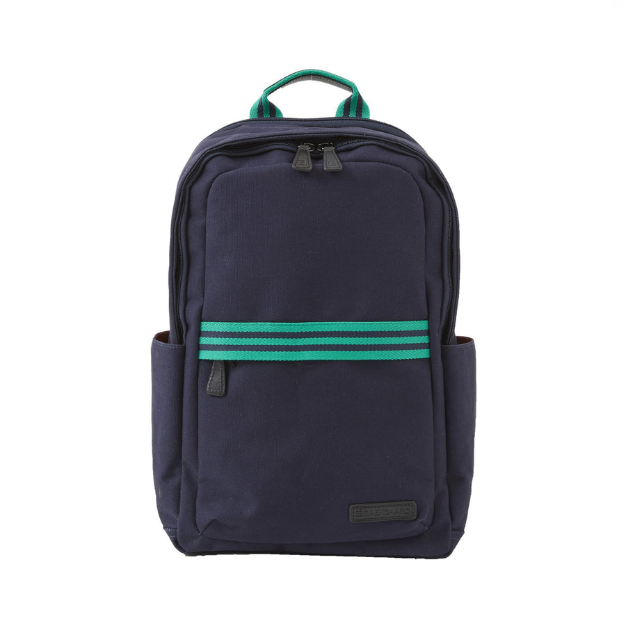Teddy Zipper Backpack in Navy Canvas by Baekgaard