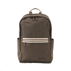 Teddy Zipper Backpack in Brown Brushed Microfiber by Baekgaard