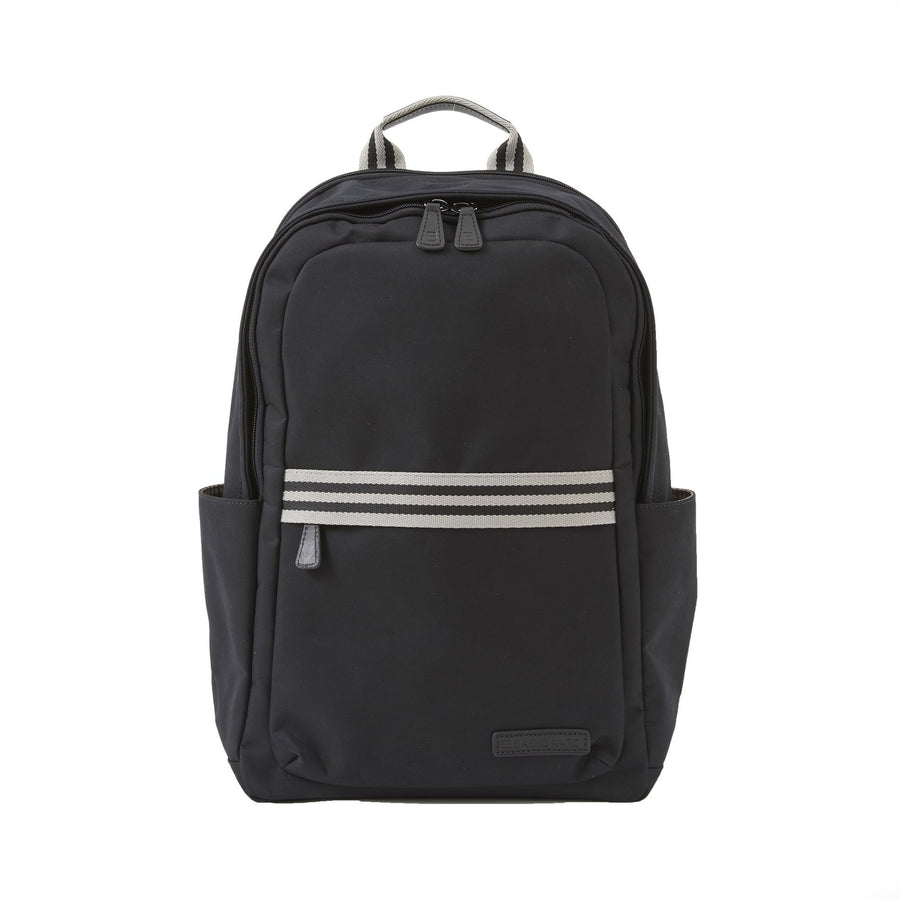 Teddy Zipper Backpack in Black Brushed Microfiber by Baekgaard