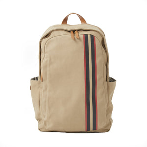 Teddy Zipper Backpack with Stripe in Desert Canvas by Baekgaard
