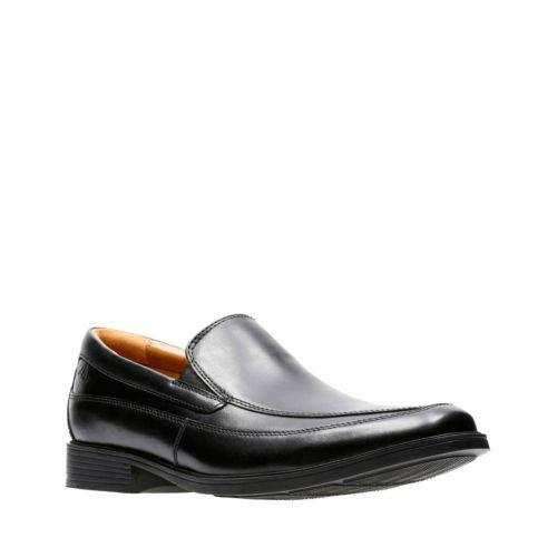 Tilden Free Loafer in Black Leather by Clarks