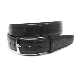 South American Caiman Belt in Black by Torino Leather