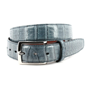 South American Caiman Belt in Blue Jean by Torino Leather