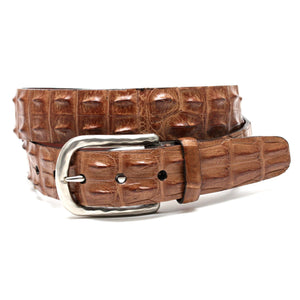 Hornback Crocodile Belt in Tan by Torino Leather