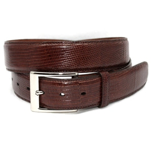 Ringmark Lizard Belt in Cognac by Torino Leather