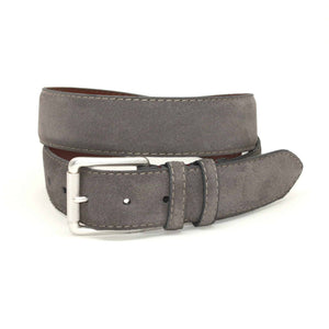 European Sueded Calfskin Belt in Grey by Torino Leather