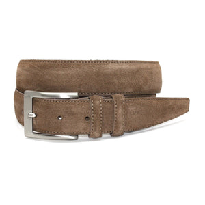 Italian Sueded Calfskin Belt in Whiskey by Torino Leather