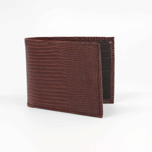 Genuine Ringmark Lizard Billfold Wallet in Brown by Torino Leather