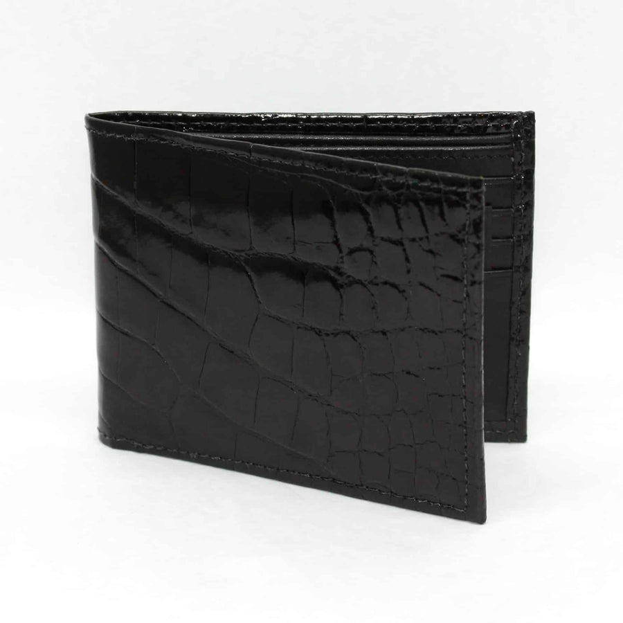 Genuine Alligator Billfold Wallet in Black by Torino Leather